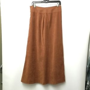 Jessica Long Skirt Size 8 Tan Color Side Zipper With Clasp